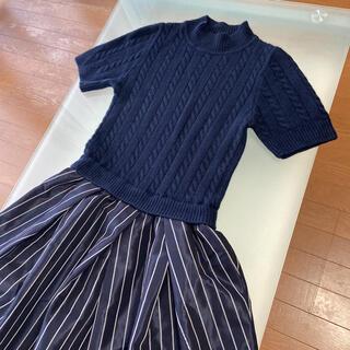 フレイアイディー(FRAY I.D)のスカートふんわりワンピース(ひざ丈スカート)