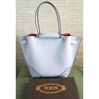 トッズ(TOD'S)のTOD'S WAVE トッズ ウェーブ トートバッグ ショルダーバッグ グレー(トートバッグ)