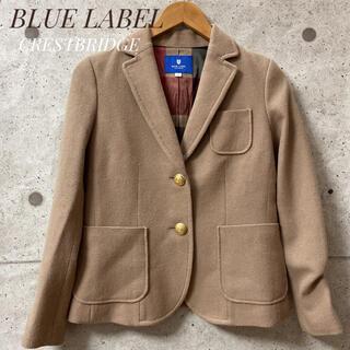 バーバリーブルーレーベル(BURBERRY BLUE LABEL)のBLUE LABEL CRESTBRIDGE ブラック ジャケット 36(テーラードジャケット)