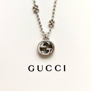 Gucci - インターロッキングG シルバー ネックレス フラワー