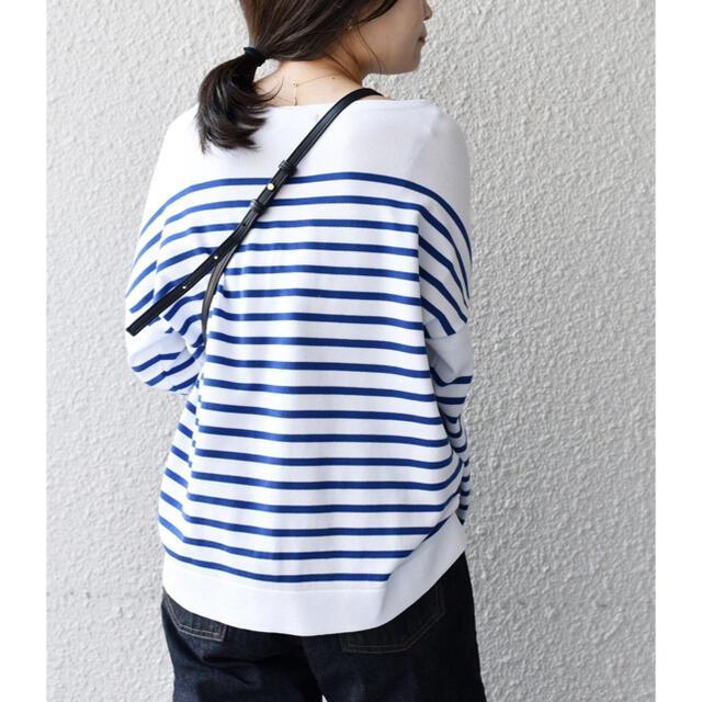 SHIPS for women(シップスフォーウィメン)のSHIPS for women コットンアクリル リリーボートネックプルオーバー レディースのトップス(ニット/セーター)の商品写真