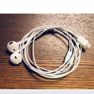 アップル(Apple)のアップル 純正 iPhone X付属品 イヤホン ライニングタイプ動作確認済み(ヘッドフォン/イヤフォン)