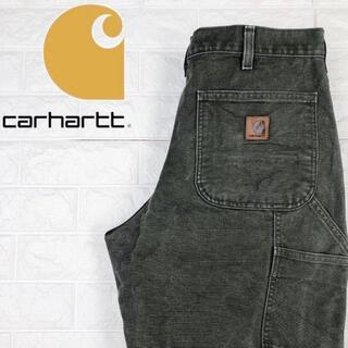 カーハート(carhartt)のカーハート ペインターパンツ ワイドストレート レザータグ モスグリーン 90s(ペインターパンツ)