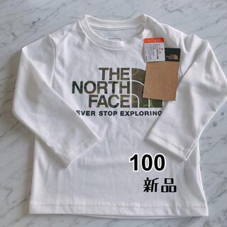 THE NORTH FACE - ★ノースフェイス カモロゴTシャツ キッズ 100サイズ ホワイト★新品