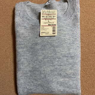 MUJI (無印良品) - 無印良品  クルーネックセーター ライトグレーL