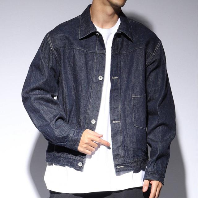 COMOLI(コモリ)の【お値下げ】美品 コモリ COMOLI デニムジャケット サイズ1 メンズのジャケット/アウター(Gジャン/デニムジャケット)の商品写真