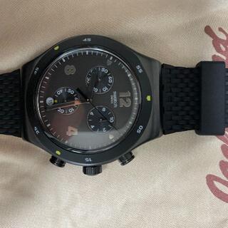 swatch - 極美品 SWATCH スウォッチ メンズ クロノグラフ DARKBARK YVB
