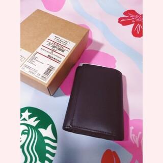 ムジルシリョウヒン(MUJI (無印良品))の無印良品MUJIイタリア製ヌメ革三つ折財布ブラック(折り財布)