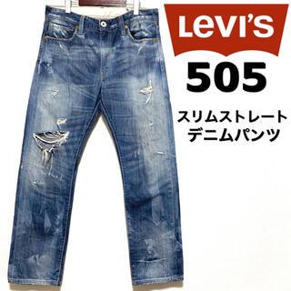 Levi's - Levi's505☆ダメージ加工デニムパンツ☆34インチ☆