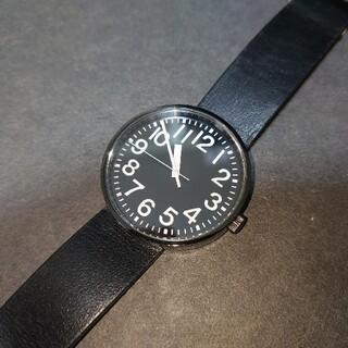 ムジルシリョウヒン(MUJI (無印良品))の無印良品 公園の時計 腕時計 ラージ 黒(腕時計(アナログ))
