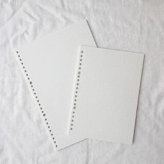 ムジルシリョウヒン(MUJI (無印良品))の無印良品 ルーズリーフ B5 A5 ノート レフィル(ノート/メモ帳/ふせん)