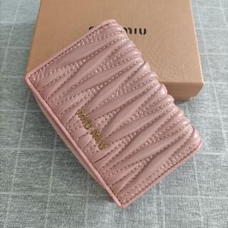 miumiu - 素敵★ミュウミュウ 折り財布 コインケース 名刺入れ ピンク