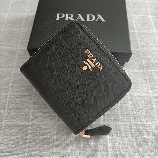 PRADA - 素敵★プラダ 二つ折り財布 コインケース 名刺入れ  黒