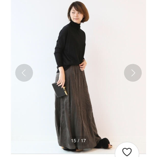 ドゥーズィエムクラス(DEUXIEME CLASSE)のDeuxieme Classe Silk マキシスカートグレー¥42,900(ロングスカート)
