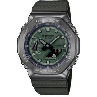 ジーショック(G-SHOCK)のCASIO G-SHOCK GM-2100B-3AJF カシオーク グリーン(腕時計(アナログ))