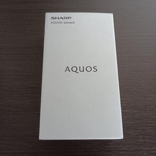 アクオス(AQUOS)のAQUOS sense4  SH-M15 シルバー(S) simフリー(スマートフォン本体)