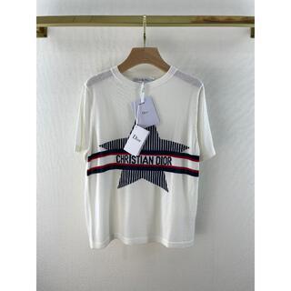 ディオール(Dior)のDior ニット Tシャツ アルプス 星 ロゴシルク コットン (Tシャツ(半袖/袖なし))