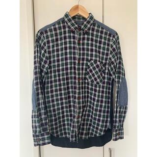 JUNYA WATANABE COMME des GARCONS - 綿先染ツイルチェック×綿へリンボンシャツ XS