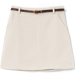 グレイル(GRL)の新品タグ付き!GRL ベルト付き台形スカート ミニスカート 2点セット(ミニスカート)