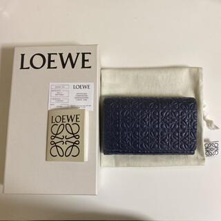 LOEWE - LOEWE 二つ折り財布 NAVY