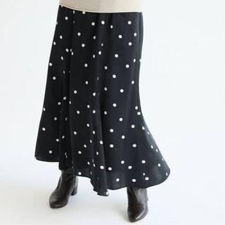 IENA - iena ドットプリントランダムフレアスカート