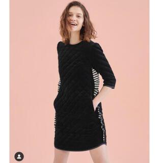 Drawer - ボーダーズアットバルコニー ベルベットドレス ブラック 黒 サイズ/36