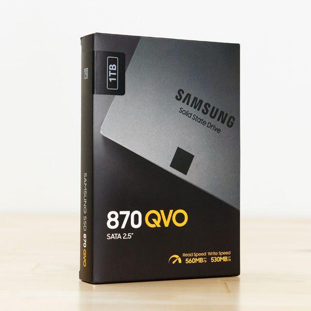 SAMSUNG(サムスン)の使用新品 Samsung 870 QVO 1TB MZ-77Q1T0B/EC スマホ/家電/カメラのPC/タブレット(PCパーツ)の商品写真