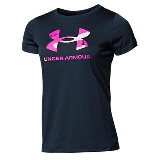 アンダーアーマー(UNDER ARMOUR)のアンダーアーマー ビッグロゴ Tシャツ レディース M トレーニング(Tシャツ(半袖/袖なし))