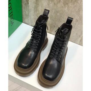 ボッテガヴェネタ(Bottega Veneta)のボッテガヴェネタ タイヤブーツ 黒 サイズ42(ブーツ)