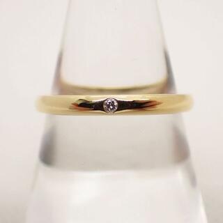 Tiffany & Co. - ティファニー 750YG ダイヤモンド リング 18号[g543-9]