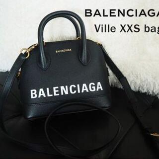 Balenciaga - BALENCIAGA Ville ハンドバッグ XXS 黒