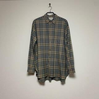 マーカウェア(MARKAWEAR)の美品⭐︎markaware チェックシャツ イエロー(シャツ)