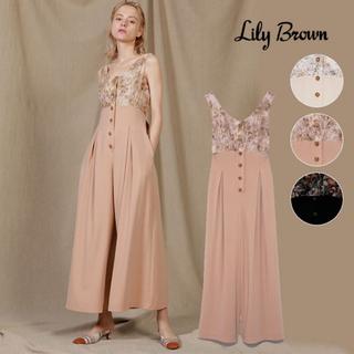リリーブラウン(Lily Brown)のLilly brown 花柄刺繍オールインワン🤍(オールインワン)