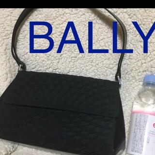 バリー(Bally)の美品 バリー ブラック ショルダー 通勤バッグ 匿名配送(ショルダーバッグ)
