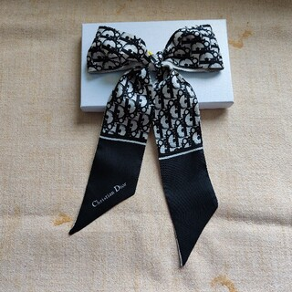 クリスチャンディオール(Christian Dior)の✿綺麗 スカーフ ディオール ブラック(バンダナ/スカーフ)
