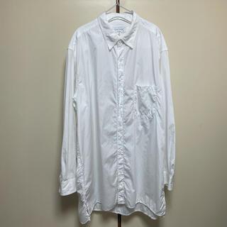 ヨウジヤマモト(Yohji Yamamoto)の2021SS ヨウジヤマモトプールオム ロングビッグシャツ 白(シャツ)