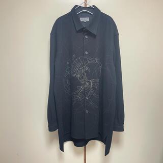 ヨウジヤマモト(Yohji Yamamoto)の19AW ヨウジヤマモトプールオム ブリーチ加工 ウールジャケット 4 黒(ブルゾン)
