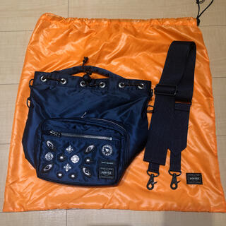 PORTER - 【阪急梅田限定】toga porter  STRING BAG アイアンブルー