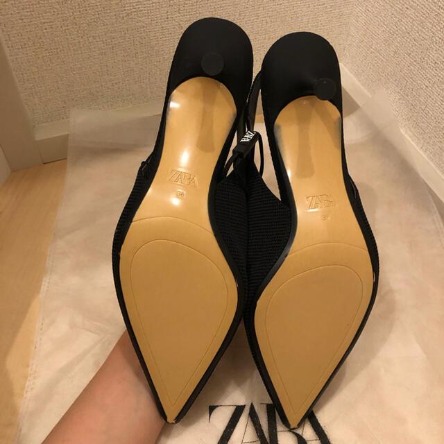 ZARA(ザラ)の【新品未使用】ZARA ザラ ミディアムヒール スリングバック パンプス 38 レディースの靴/シューズ(ハイヒール/パンプス)の商品写真