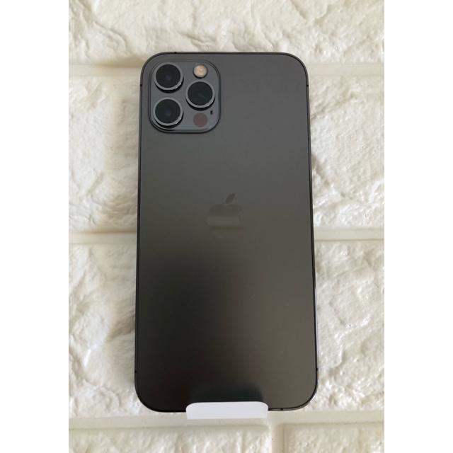 iPhone(アイフォーン)の値下げしました 未使用 iPhone 12 Pro 128GB グラファイト  スマホ/家電/カメラのスマートフォン/携帯電話(スマートフォン本体)の商品写真