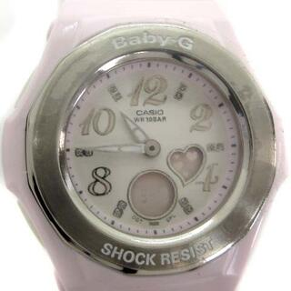ベビージー(Baby-G)のベビージー 腕時計 アナデジ クォーツ ハート ピンク 白(腕時計)