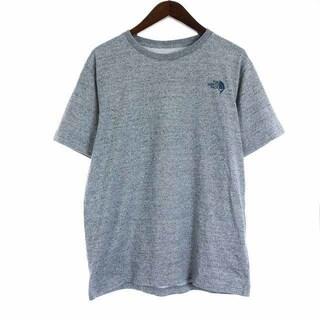 THE NORTH FACE - ザノースフェイス クライミングスクエアロゴシャツ Tシャツ 半袖 XL グレー