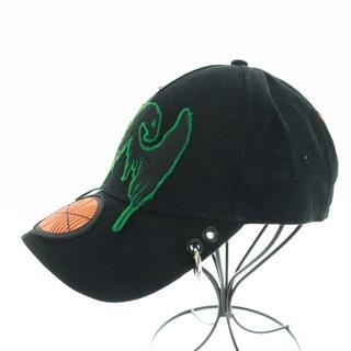 ディーゼル(DIESEL)のディーゼル 帽子 キャップ 野球帽 ワッペン バスケットボール ロゴ M 黒(キャップ)