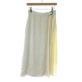 セオリーリュクス(Theory luxe)のセオリー luxe ラップスカート ロング プリーツ 38 オフホワイト 白(ロングスカート)