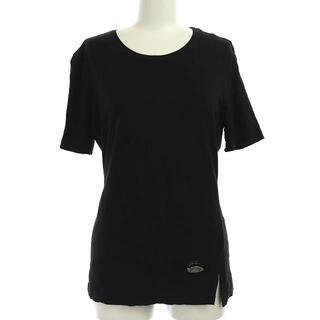 フェンディ(FENDI)のフェンディ Tシャツ カットソー ロゴプレート 五分袖 40 L 黒(その他)