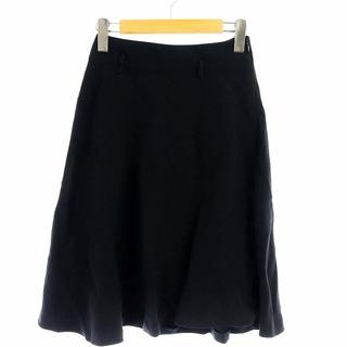 ミュウミュウ(miumiu)のミュウミュウ miumiu フレアスカート ひざ丈 38 M 紺(ひざ丈スカート)