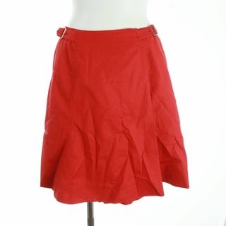 クリスチャンディオール(Christian Dior)のクリスチャンディオール SPORTS ラップスカート フレアスカート M 赤(ひざ丈スカート)