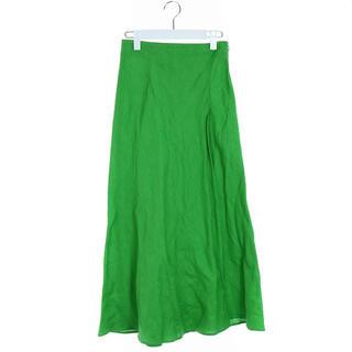 ユナイテッドアローズ(UNITED ARROWS)のユナイテッドアローズ 21SS UWCC リネンロングスカート 麻 36 S 緑(ロングスカート)