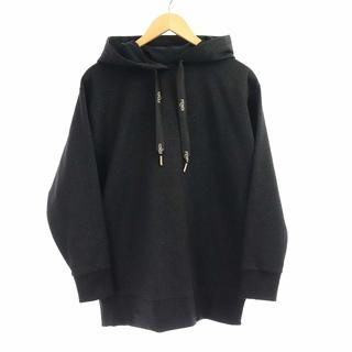 FENDI - フェンディ パーカー ニット プルオーバー 長袖 ロゴ カシミヤ混 XS 黒