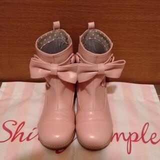 Shirley Temple - シャーリーテンプル スカラップリボンブーツ19cm ピンク